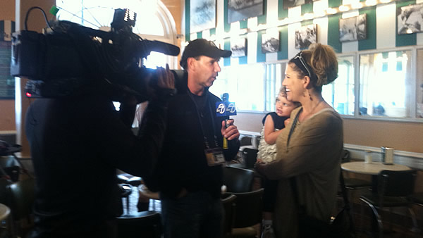 ABC7's Larry Beil gets exclusive interview with Sarah Harbaugh!