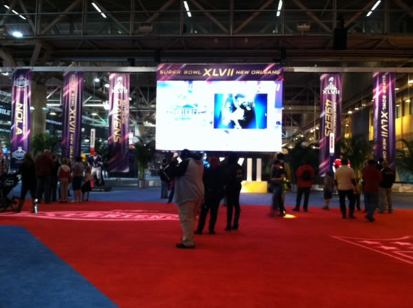 The NFL Experience. Follow @KatieABC7 for the latest Super Bowl updates.  <span class=meta>(KGO)</span>