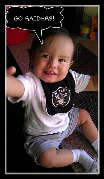 Photo submitted by Rivera D. via uReport (Are you a Raiders fan? Send us a photo or video of your Raiders spirit to uReport@kgo-tv.com and we'll post it here: http://bit.ly/WxySUx.)