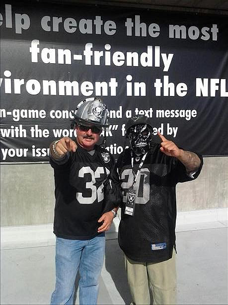 Photo submitted by Raider Gil 20 via uReport  (Are you a Raiders fan? Send us a photo or video of your Raiders spirit to uReport@kgo-tv.com and we'll post it here: http://bit.ly/WxySUx.)