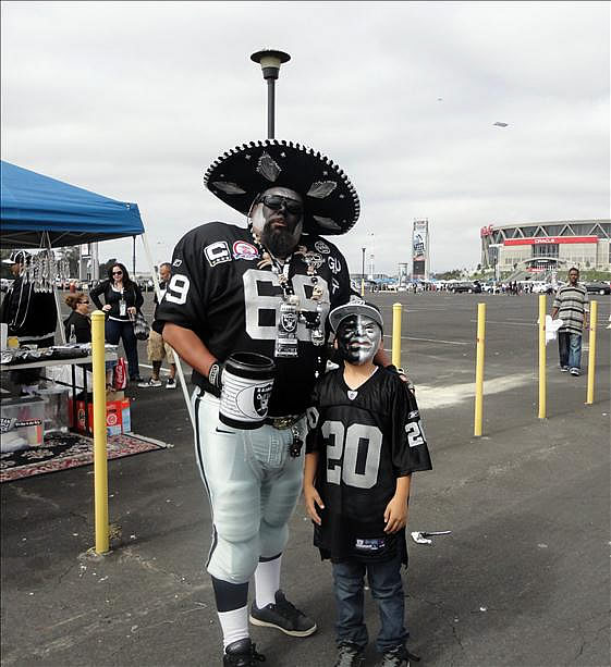 Photo submitted by Vorozco via uReport  (Are you a Raiders fan? Send us a photo or video of your Raiders spirit to uReport@kgo-tv.com and we'll post it here: http://bit.ly/WxySUx.)