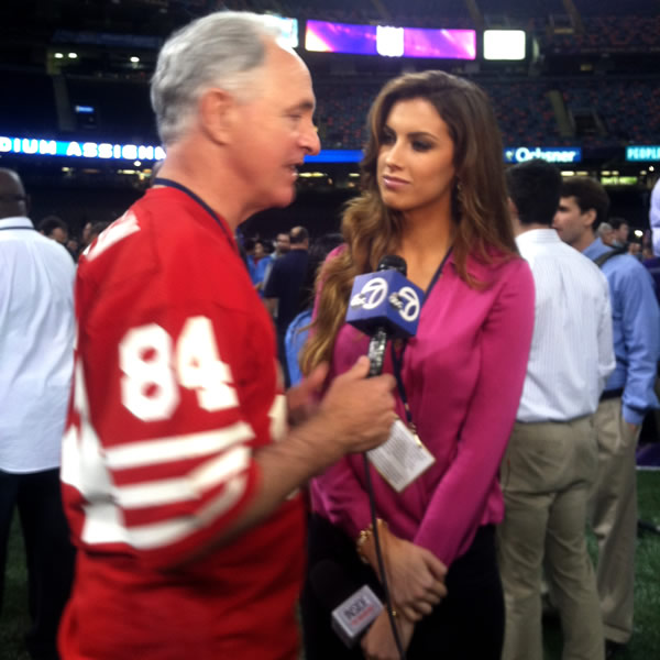 ABC7's Mike Shumann interviews Katherine Webb.