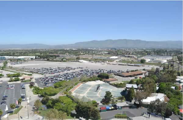 View of the 49er stadium construction from Great America on April 21, 2012. <span class=meta>(KGO Photo)</span>