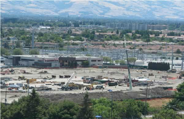 View of the 49er stadium construction from the Hyatt on June 23, 2012. <span class=meta>(KGO Photo)</span>