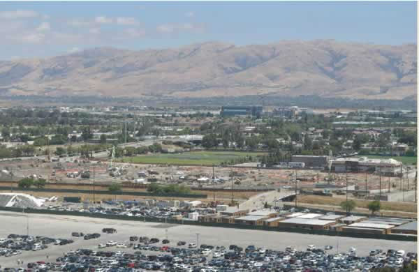View of the 49er stadium construction from Great America on June 30, 2012. <span class=meta>(KGO Photo)</span>