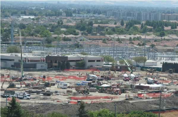 View of the 49er stadium construction from the Hyatt on July 7, 2012. <span class=meta>(KGO Photo)</span>