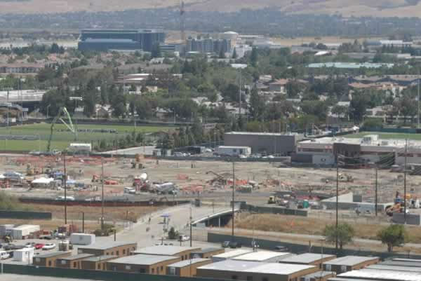 View of the 49er stadium construction from Great America on July 14, 2012. <span class=meta>(KGO Photo)</span>