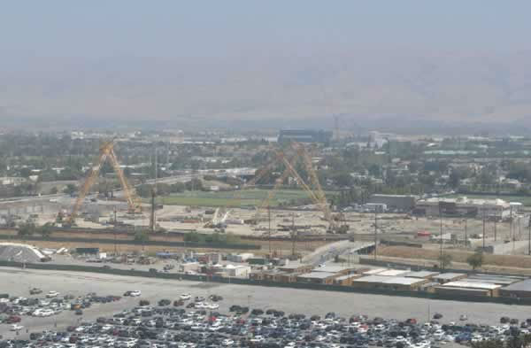 View of the 49er stadium construction from Great America on July 28, 2012. <span class=meta>(KGO Photo)</span>
