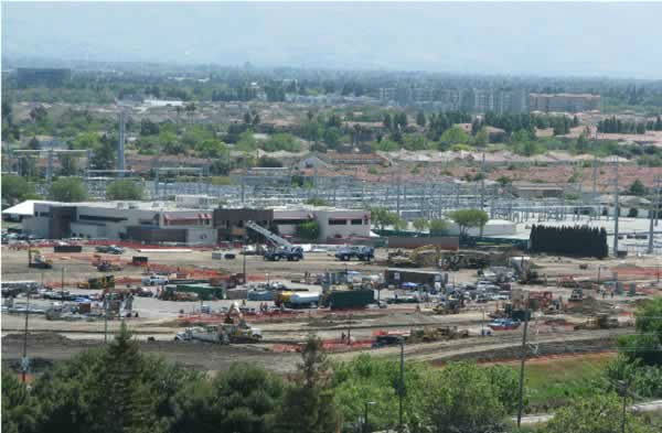 View of the 49er stadium construction from the Hyatt on April 28, 2012. <span class=meta>(KGO Photo)</span>