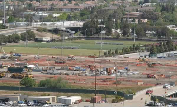 View of the 49er stadium construction from Great America on May 5, 2012. <span class=meta>(KGO Photo)</span>