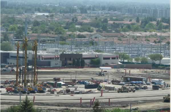 View of the 49er stadium construction from the Hyatt on May 12, 2012. <span class=meta>(KGO Photo)</span>