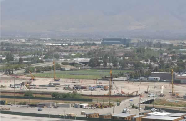 View of the 49er stadium construction from Great America on May 19, 2012. <span class=meta>(KGO Photo)</span>