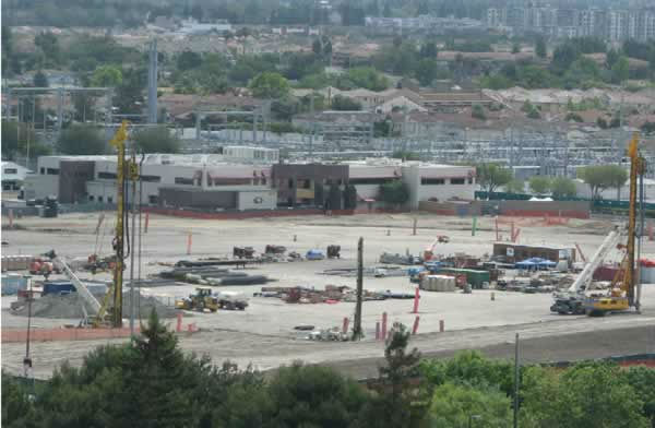 View of the 49er stadium construction from the Hyatt on May 26, 2012. <span class=meta>(KGO Photo)</span>