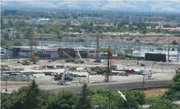 View of the 49er stadium construction from the Hyatt on June 9, 2012. <span class=meta>(KGO Photo)</span>
