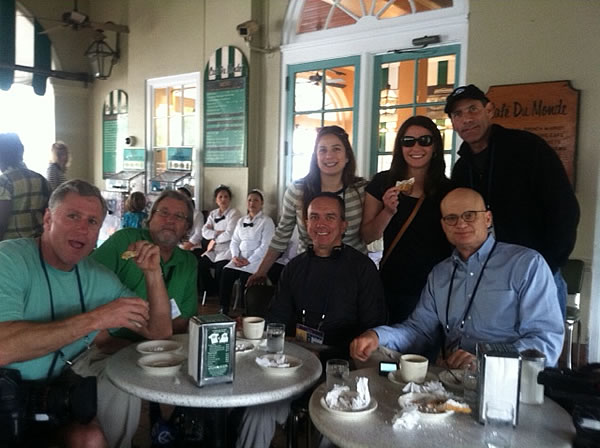 ABC7 team at Cafe Du Monde