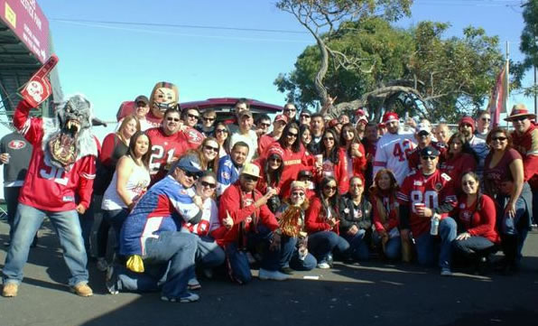 "<div class=""meta ""><span class=""caption-text "">Tailgating at the 'stick with the 49er Empire! (Photo submitted by LilPen7 via uReport)</span></div>"