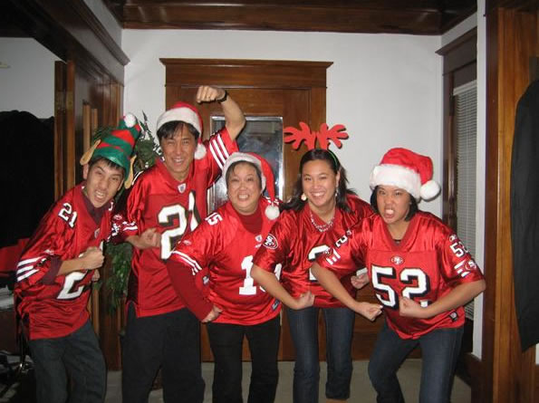 "<div class=""meta ""><span class=""caption-text "">Go Niners! Our Christmas wish is coming true! (Photo submitted by Sfkarebear via uReport)</span></div>"