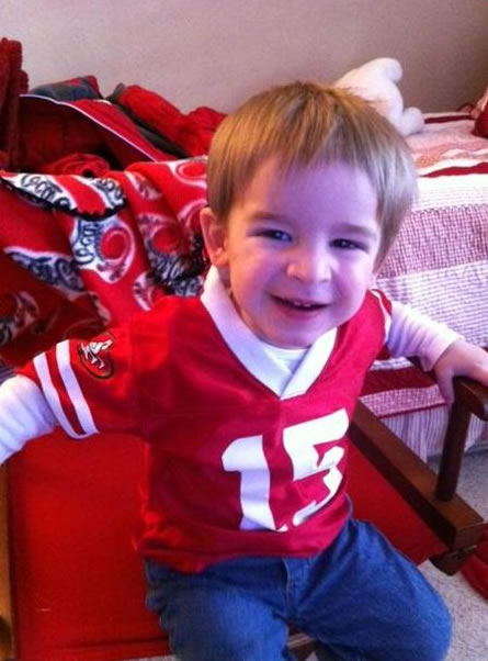 Eli loves the 9ers! (Photo submitted via uReport)