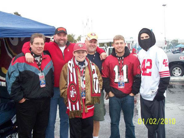 "<div class=""meta ""><span class=""caption-text "">The Cook Family - 49er Faithfuls (Photo submitted by Larry and Lori Cook from Brentwood via uReport)</span></div>"