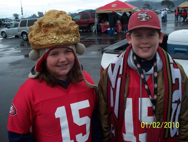 The Cook Family - 49er Faithfuls (Photo submitted by Larry and Lori Cook from Brentwood via uReport)