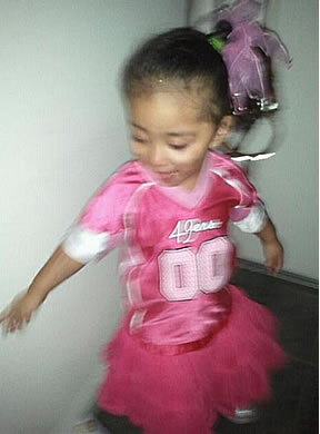 Sianna just can't wait for the game!!!! Go Niners!!!! (Photo submitted via uReport)