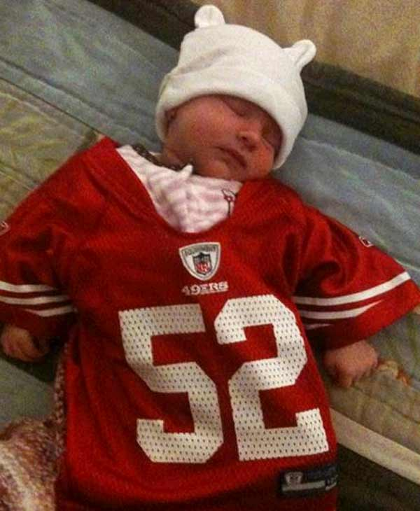 Prettiest little three week old 49er fan in Walnut Creek! (Submitted via uReport)