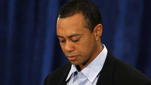 Tiger Woods makes a state