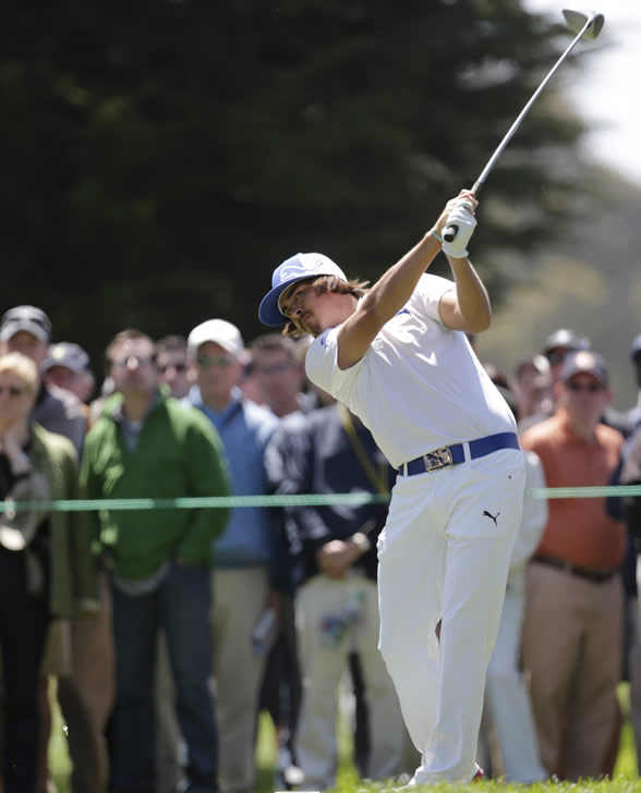 "<div class=""meta ""><span class=""caption-text "">Rickie Fowler during the second round of the U.S. Open Championship golf tournament Friday, June 15, 2012, at The Olympic Club in San Francisco. (AP Photo/Eric Gay)   ( )</span></div>"