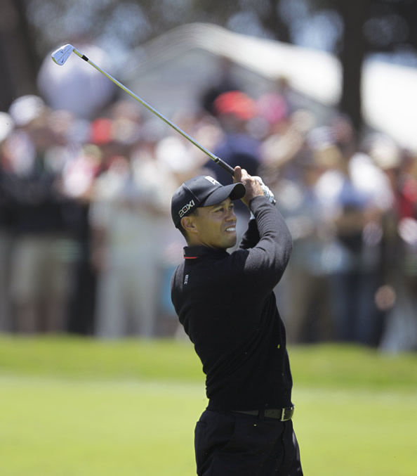 "<div class=""meta ""><span class=""caption-text "">Tiger Woods during the second round of the U.S. Open Championship golf tournament Friday, June 15, 2012, at The Olympic Club in San Francisco. (AP Photo/Ben Margot)     ( )</span></div>"