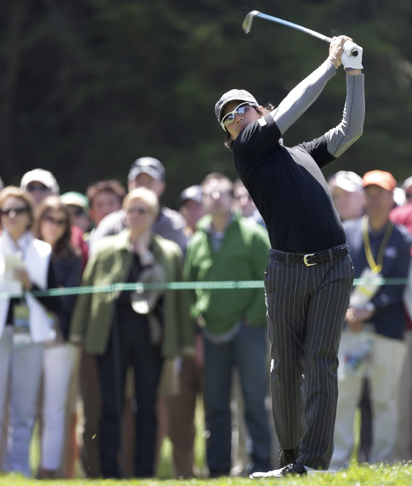 "<div class=""meta ""><span class=""caption-text "">Ryo Ishikawa, of Japan, during the second round of the U.S. Open Championship golf tournament Friday, June 15, 2012, at The Olympic Club in San Francisco. (AP Photo/Eric Gay)   </span></div>"