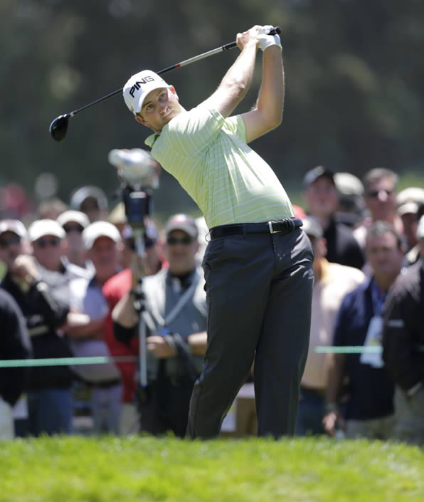 "<div class=""meta ""><span class=""caption-text "">Michael Thompson during the second round of the U.S. Open Championship golf tournament Friday, June 15, 2012, at The Olympic Club in San Francisco. (AP Photo/Eric Gay)     ( )</span></div>"