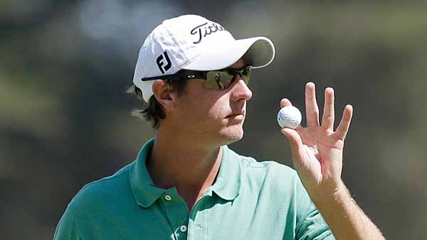 Nicolas Colsaerts, of Belgium, reacts after saving par on the third hole during the third round of the U.S. Open Championship golf tournament Saturday, June 16, 2012, at The Olympic Club in San Francisco. (AP Photo/Charlie Riedel)