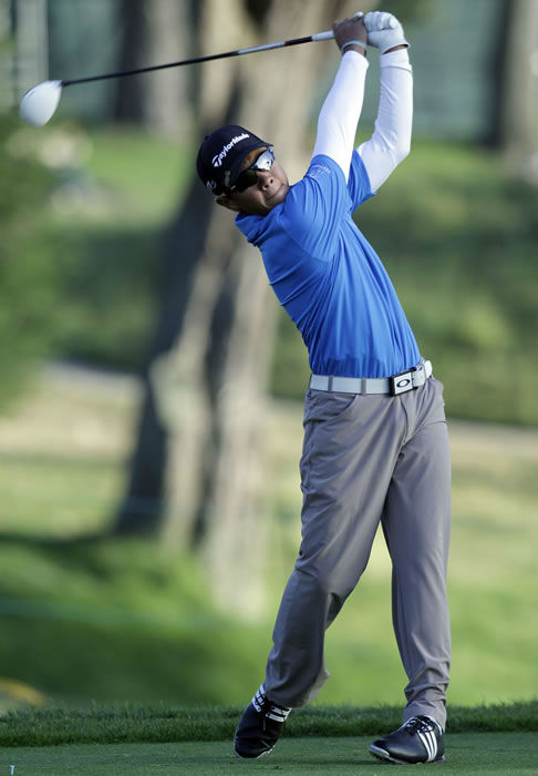 "<div class=""meta ""><span class=""caption-text "">Andy Zhang hits a shot on the ninth hole during a practice round for the U.S. Open Championship golf tournament Tuesday, June 12, 2012, in San Francisco. (AP Photo/Eric Gay) </span></div>"