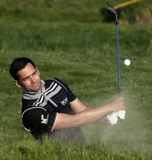 "<div class=""meta ""><span class=""caption-text "">Lee Slattery, of England, hits out of a bunker on the 9th hole during a practice round for the U.S. Open Championship golf tournament Monday, June 11, 2012, in San Francisco. (AP Photo/Morry Gash) </span></div>"