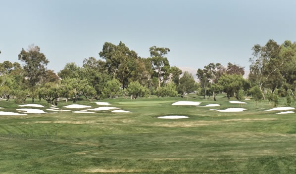 Las Positas Par-4, 7th. Some might describe this hole as being cluttered. It&#39;s an easy par-4, or else.... <span class=meta>(ABC7&#39;s Wayne Freedman)</span>