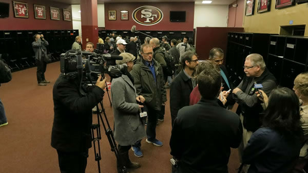 With the 49ers set to play their last game at Candlestick Park, the San Francisco Recreation and Parks Department opened the doors for one last behind-the-scenes look, December 17, 2013. Photo taken by ABC7 News reporter Wayne Freedman. <span class=meta>(KGO Photo)</span>