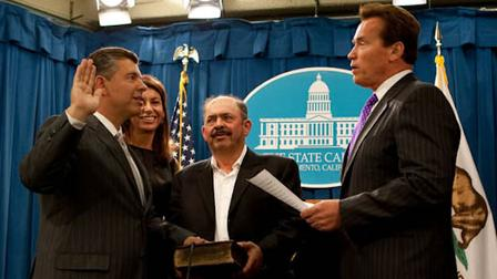 Governor Schwarzenegger Swears in Abel Maldonado as Lieutenant Governor.
