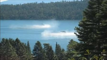 We now know why two Navy helicopters were hovering so low over Lake Tahoe this fall.
