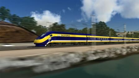 California bullet train artists rendering