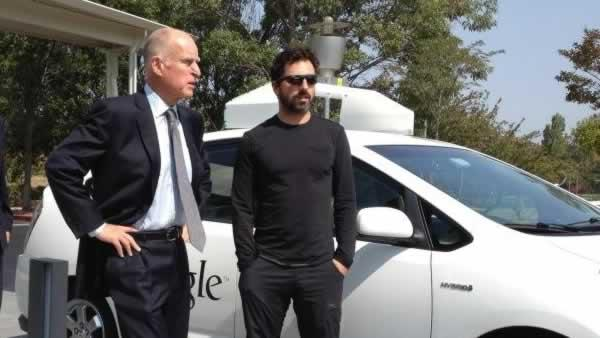 Brown stops by Google to sign bill to OK driverless cars