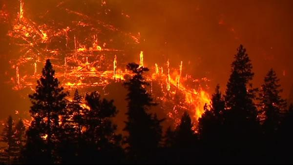 Rim Fire near Yosemite.