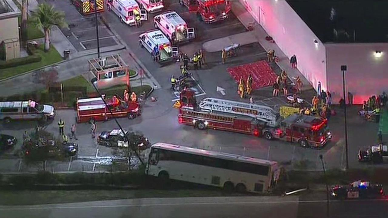 Bus accident in Baldwin Park