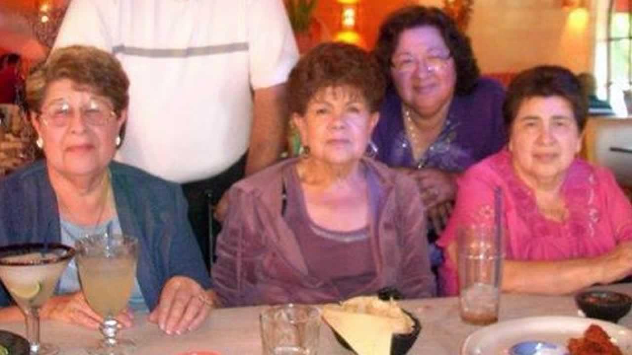 Sisters Jennie Monreal of Sanger, Josephine Contreras of San Jose, Delores Rodriguez of Del Rey, and Betty Rodriguez of Del Rey