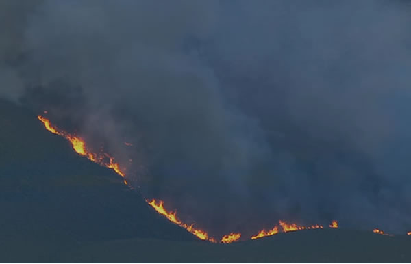 Here are photos of the two wildfires in Lake County that began on Sunday evening.