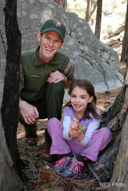 "<div class=""meta ""><span class=""caption-text "">Evie, the Yosemite junior park ranger who sent an apology letter when she inadvertently took home two sticks, got the chance to return the sticks to the park over the weekend.</span></div>"