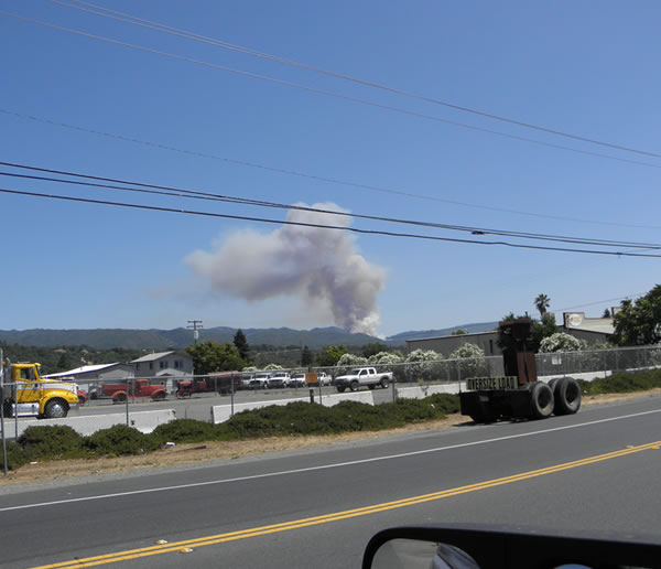 "<div class=""meta image-caption""><div class=""origin-logo origin-image ""><span></span></div><span class=""caption-text"">A fire near Ukiah burned 400 acres on Saturday. (Photo courtesy viewer George Perrone.)</span></div>"