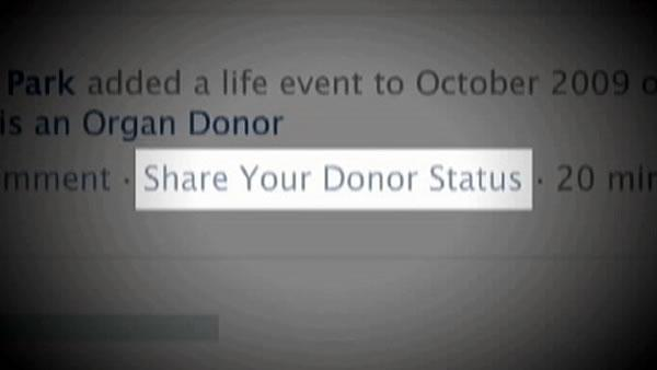 Facebook to make it easier to become organ donor