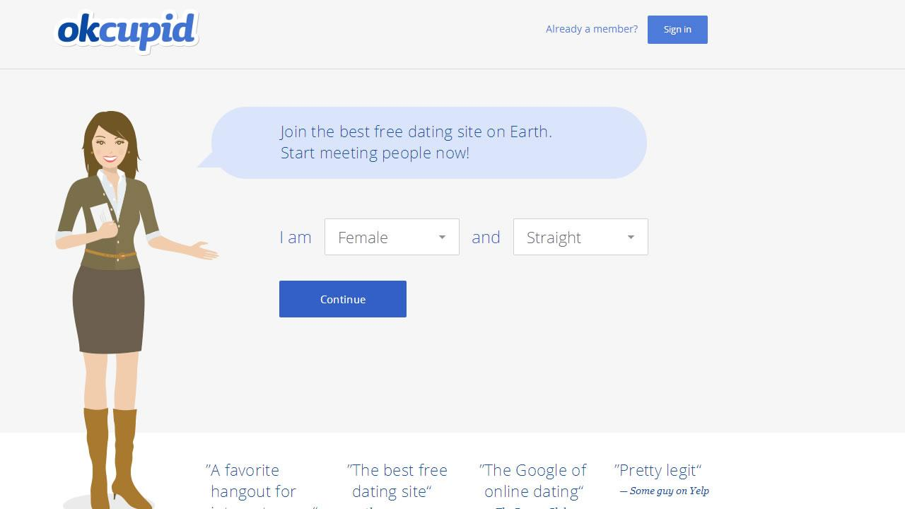 OkCupid website.