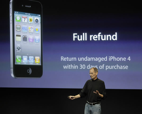 "<div class=""meta image-caption""><div class=""origin-logo origin-image ""><span></span></div><span class=""caption-text"">Apple CEO Steve Jobs talks about the Apple iPhone 4 at Apple headquarters in Cupertino, Calif., Friday, July 16, 2010. (AP Photo/Paul Sakuma)</span></div>"