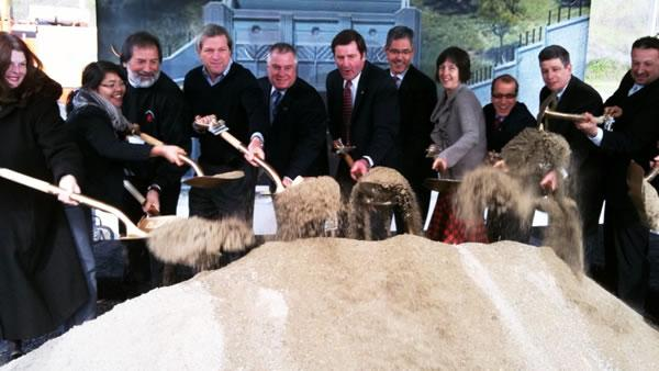 Officials break ground on new Caldecott bore